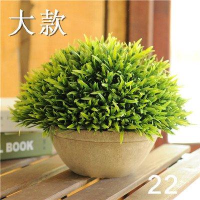 SYHOME Künstliche Blumen Pflanzen Topfpflanzen s Green Silk Tree Ball Stroh Ball Desktop Decorationation Grün 22 Anzahl