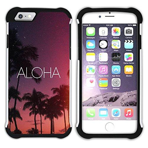 Graphic4You Hawaiisch Hawaii Postkarte Hart + Weiche Kratzfeste Hülle Case Schale Tasche Schutzhülle für Apple iPhone 6 Plus / 6S Plus Design #12
