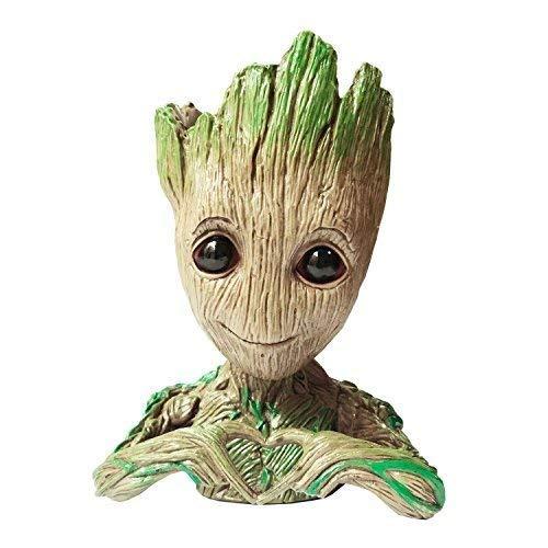 QiyuanLS Baby Groot Flower Pot - Guardianes de The Galaxy Baby Figuras de acción Modelo Lindo Toy Pen Pot - Perfecto como Regalo (Flower Pot -A2)
