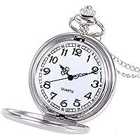 Orologio da tasca personalizzato con catena, orologio da tasca personalizzato con orologio al quarzo con qualsiasi foto…