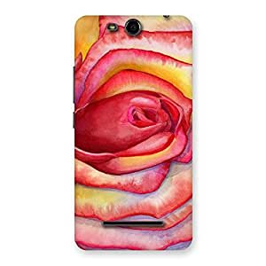 Neo World Painting Art Flower Red Back Case Cover for Micromax Canvas Juice 3 Q392