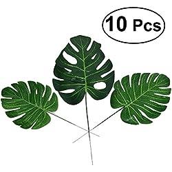 VORCOOL Künstliche Palmenblatt für die Dekoration Künstliche Blatt grün 10pcs