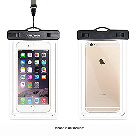 Tritina Waterproof Case IPX8, Universal Waterproof Phone Pouch fit Size Up to 6