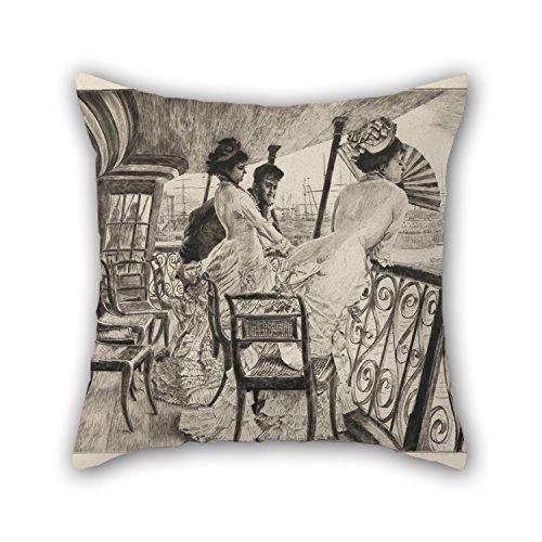 slimmingpiggy-throw-pillow-case-of-oil-painting-james-joseph-tissot-the-gallery-of-hms-calcutta-souv