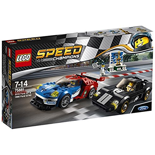 LEGO – 75881 – Speed Champions –  Jeu de Construction – Ford GT 2016 & Ford GT40 1966