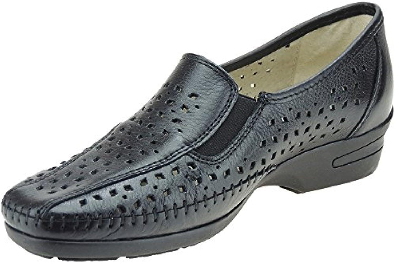 S@KUT. Zapato Comodón En Piel y Calado para Mujer - Modelo 356