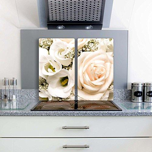 rose-2-set-glas-abdeckplatte-2x30x52-schneidebrett-herdabdeckplatte