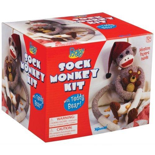 PeeJay Sock Monkey Kit by Toysmith (Peejay Monkey Sock)