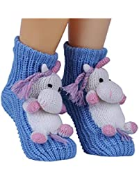 4faf215c34b Christmas Non-slip Knit Sweater Warm Household Floor Socks for Women Warm  Winter Indoor Floor
