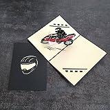 Motorrad biker 3D Pop up Grußkarte handgefertigt Happy Birthday Hochzeitstag Freundschaft Frohe...