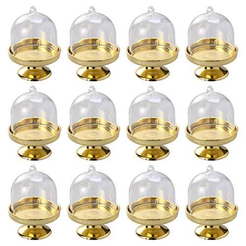 Aestm - Juego 12 Mini Campanas Cristal Tarta Plato