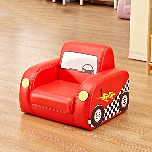 WAYERTY Kindersofa, Kindersessel Sleeper Liegesitz Single Möbel Cartoon Kindergarten Mini Baby-Couch Mini-Sessel-Rot 50x45x40cm(20x18x16inch) -