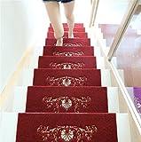 QI8 Massivholz Hause treppen pad Schritt Matte pad wendeltreppe pad Rutschfeste Gummi Selbstklebende pad, 3