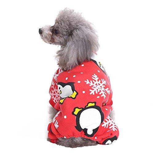 PU Ran Hund Weihnachten Pinguin Muster Weiches Kostüm Puppy niedliche Weihnachts Haustier Kleidung