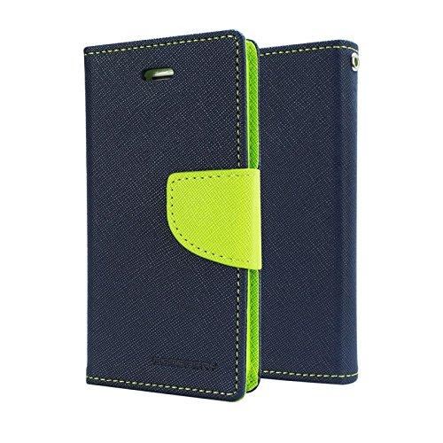 Annant Mercury Goospery Fancy Diary Card Wallet Flip Case Back Cover for Micromax YU Yureka 5510/ YU Yureka Plus (Blue & Green)