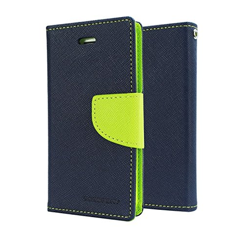 Mzon Mercury Canvas Wallet Case Flip Cover for Samsung Galaxy S Duos S7562/ GT- S7562/ S7582 (Blue & Green)  available at amazon for Rs.199