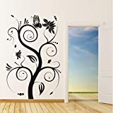 Wuyyii Hot Sale Waterproof Diy Removable A Butterfly On The Swirl Tree Wall Sticker Nature Style Home Decor 59X84Cm
