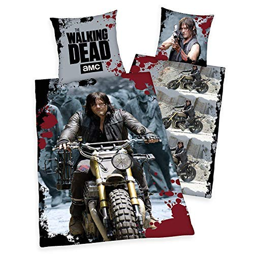 Bettwäsche Herding The Walking Dead Rick Grimes Daryl Motorrad 135 x 200 NEU WOW - All-In-One-Outlet-24 -
