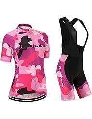 Maillot de Cyclisme Femme Manches Courtes jersey(S~5XL,option:Cuissard,3D Coussin) N243