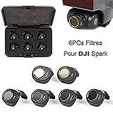 Flycoo Filtre Pour DJI Spark Accessoires Drone Caméra - Lens filter lentilles Multi-couche Enrobage Imperméable épreuve d'huile Anti-rayures (MCUV + CPL + ND4 + ND8 + ND16 + ND32)