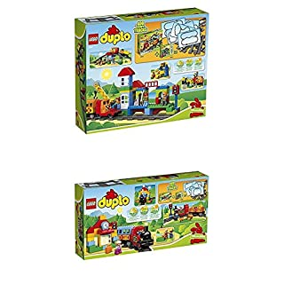 Lego Duplo 10508 - Eisenbahn Super Set + Eisenbahn Starter Set, Zug Spielzeug (B07HLBS7ZF) | Amazon price tracker / tracking, Amazon price history charts, Amazon price watches, Amazon price drop alerts