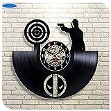 Startseite Living Fantastic Super Hero Schwarzes Vinyl CD 3D Wanduhren Quarzuhr Mode Heimtextilien Handwerk, 7Best Geschenk für Freund, Mann und Junge - Gewinnen Sie einen Preis für Feedback