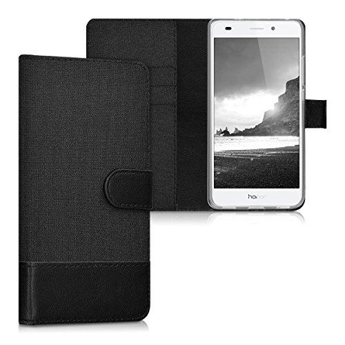 kwmobile Huawei Honor 5C Hülle - Kunstleder Wallet Case für Huawei Honor 5C mit Kartenfächern und Stand (Wallet 5c Case)