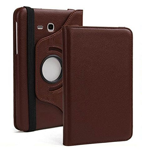 Dorado 360 Degree Rotating Leather Case Cover Stand for Samsung Galaxy Tab Jmax/Tab A 7.0 inch T285 T280 (Jmax - Brown)
