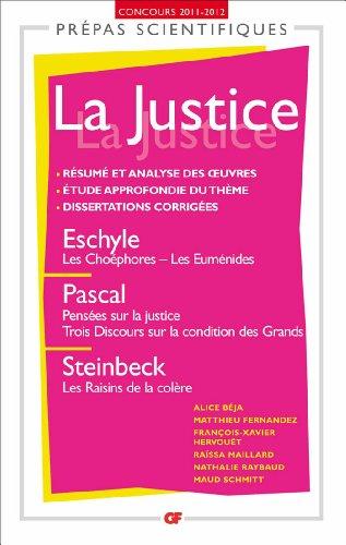 La justice (prépas scientifiques 2011-2012)