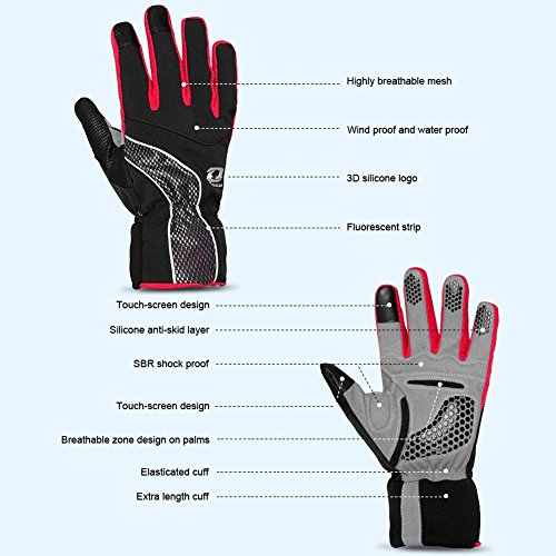 4Ucycling Warm Thermo Fleece Gloves Touchscreen Touch Fahrrad Handschuhe Radsport Handschuh Radhandschuhe - 2