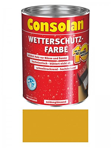 2,5 Liter Consolan Wetterschutzfarbe , gelb Nr. 203