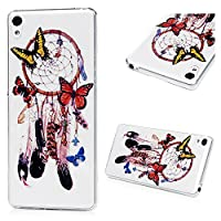 Sony Xperia XA Case, Sony Xperia XA Clear Case, Silicone Gel TPU Cover [Ultra Thin Slim] Lightweight Back Cover Case Scratch Resistant Shockproof Protective Case for Sony Xperia XASony Xperia XA Case,Coloured Printing Transparent Soft TPU Case Crystal Cle