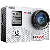 HDCool Action Cam 4K Action Camera 16MP Wifi Sports Camera Waterproof LCD 2.0 pollici, 170 ° Super grandangolo for HC8000, 2 Batterie ricaricabili 1050mAh
