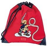 Sigikid 23330 - Mochila saco para deporte con diseño de bombero, color rojo y negro