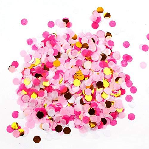 5Packungen Pop Rose Gold Konfetti, rund Pailletten Table Flower Ballon Klassenzimmer Dekorationen Konfetti Sprinkle, für Hochzeit Urlaub Jahrestag Geburtstag, 2,5cm