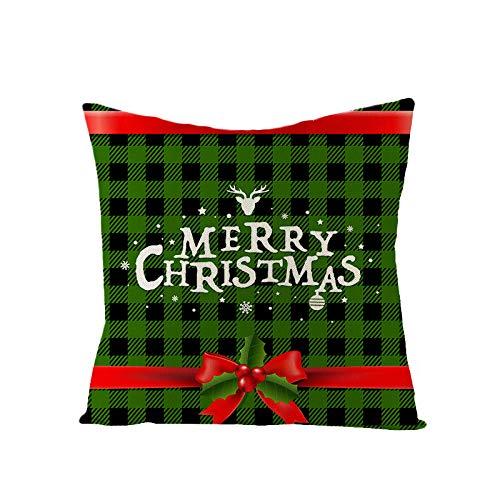 AINOT Funda Almohada Lino Verde Navidad Abrazo Modelos