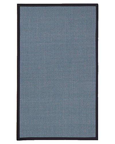 NaturalAreaRugs Pharao Sisal Teppich Modern 3' x 5' blau - 3' Sisal-teppich