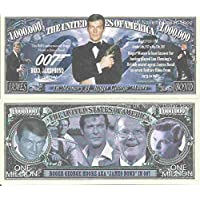 Novelty Dollar Roger George Moore AKA James Bond 007 In Memory of Million Dollar Bills x 2