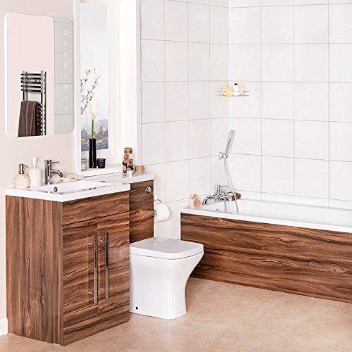 Bathroom Suite 1700mm Bath LH Vanity Basin Sink Unit Close Coupled Toilet