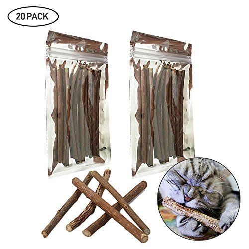 Pawaca Katze Katzenminze Sticks Katze Reinigung Zähne Bio Katzenminze Spielzeug natürliche Pflanze Kauen Sticks Katze Zähne Reinigung Kauspielzeug für Katze (Cat-bio-spielzeug)