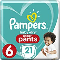 Pampers Baby Dry Pants taille 6, 15 + kg, couches Lot de4(4x 21couches)