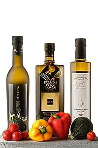 Olio extravergine di oliva. Pack speciale di Olio Oliva . Presentiamo 3 oli diversi da gustare, in flaconi da 500 ml. olio extravergine di oliva biologico ideale per regalo. Extravergine di qualità al vostro tavolo, unire il cibo sano, naturale