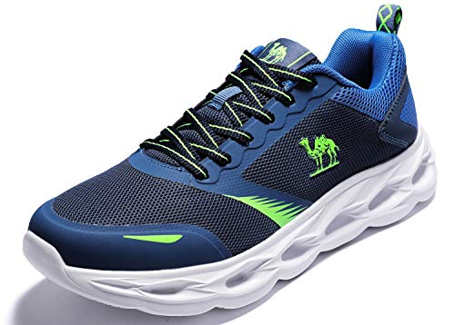 CAMEL CROWN Sportschuhe Herren Freizeit Mode Sneaker Laufschuhe Turnschuhe Leichte Bequeme Running für Männer Jungen Sport Gym Fitnessschuhe, Marine, 44 EU - Ganze Haus-kit