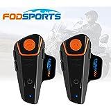 Fodsports 2 Piezas BT-S2 800-1000m Casco de la motocicleta del intercomunicador intercomunicador de Bluetooth Walkie-talkie