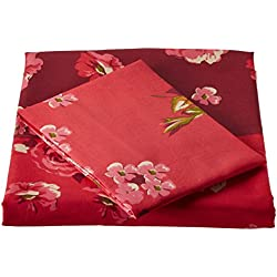 Bombay Dyeing 120 TC Polycotton Single Bedsheet with Pillow Cover - Multicolour