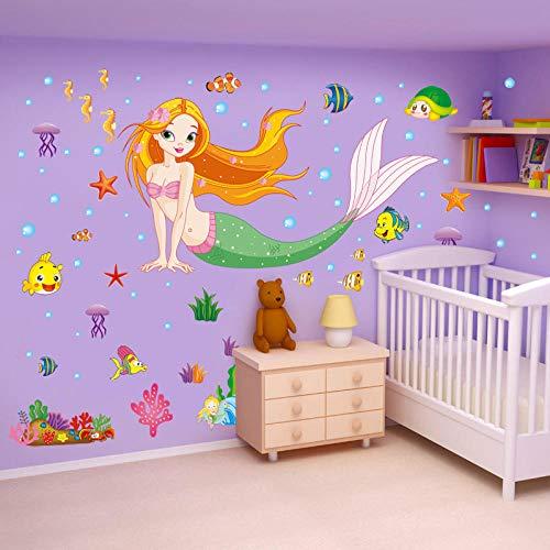 Höhe Aufkleber Baby Kinderzimmer Seite Lineal Abnehmbare Früherziehung Dekorative Tapete Selbstklebende Schlafzimmer Wandaufkleber @ 23. Mermaid_Big ()