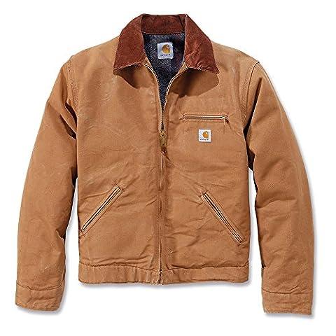 Carhartt .EJ001.BRN.S007 Duck Detroit Jacket, X-Large, Brown
