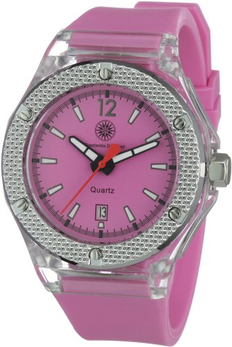 Constantin Durmont Women's Quartz Watch CD-GLEL-QZ-RBPK-PCSL-PK with Rubber Strap