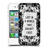 Head Case Designs Offizielle Vasare NAR Verloren In Einer Welt Schwarz Und Weiß Ruckseite Hülle für iPhone 4 / iPhone 4S