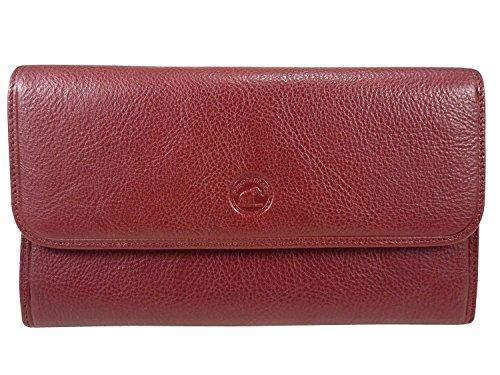 Compagnon, tout en un, porte chéquier portefeuille monnaie 12 CB cuir de vachette Rouge